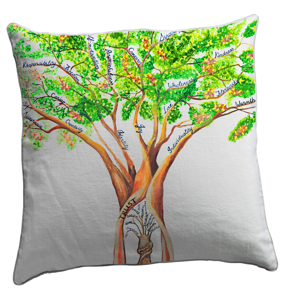 Trust Scatter Cushion - Artist Helen Dodge