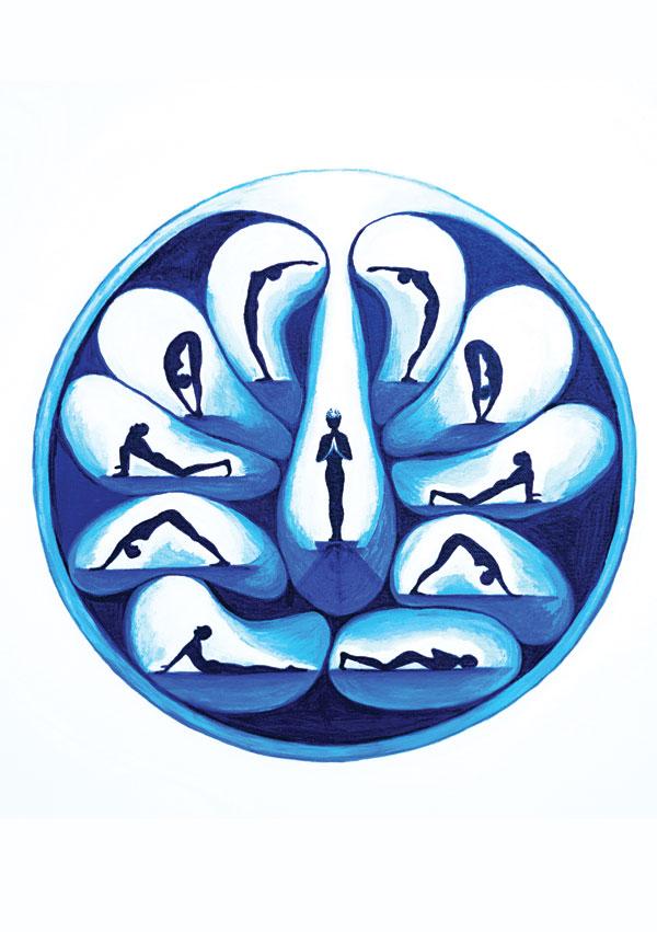 Surya-namaskara - Artist Helen Dodge